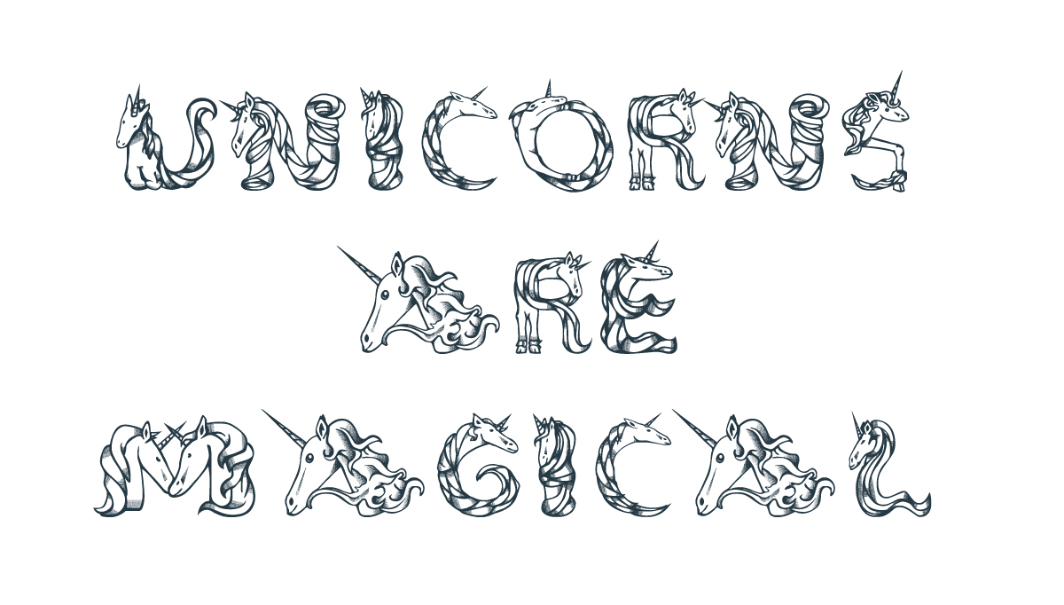 Arthur reinders folmer is a european designer who created literally one of the most magical fonts in existence it is called magical unicorns